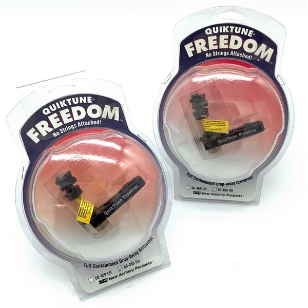Quiktune Freedom 60-468 RH Full Containment Drop-Away Arrow Rest X 2, New