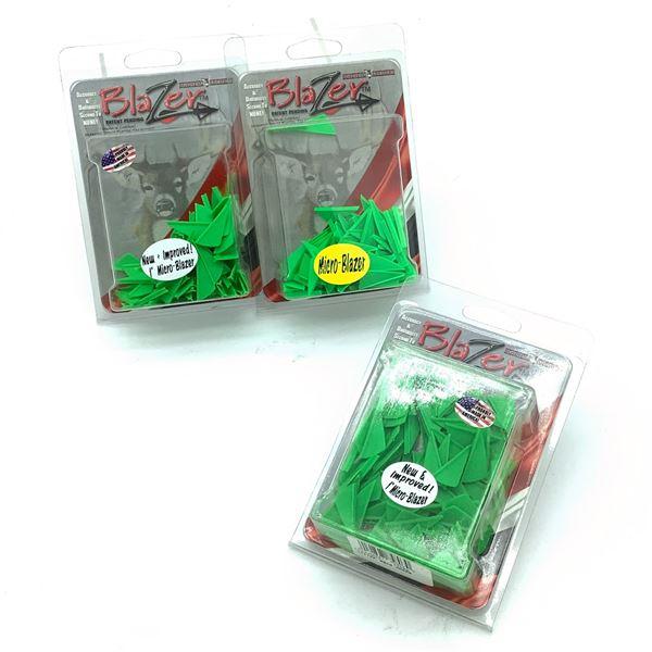 "Bohning Micro Blazer 1"" Vanes, 100 Pk, Neon Green X 3, New"