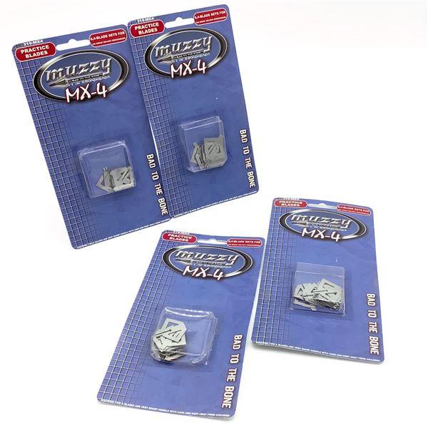 Muzzy MX-4 6X4Blade Sets for 100 Grain MX-4 209 Broadheads X 4, New