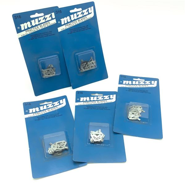 Muzzy Practice Blades for all 4-Blade 90 and 100 Grain Broadheads X 5, New