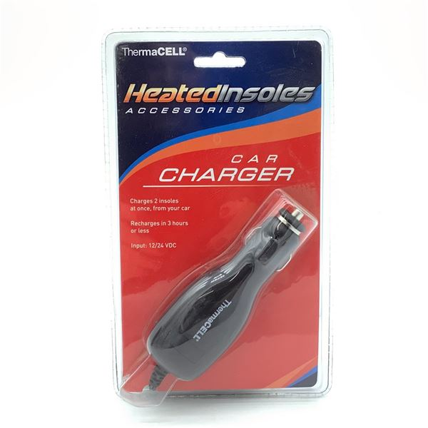 Thermacell Car Charger for Heated Insoles, New