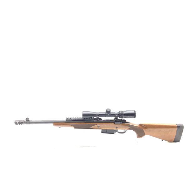 Ruger Gunsite Scout, 450 Bushmaster, Bolt Action Rifle, 2-7X32 Vortex Crossfire Scope, Used.