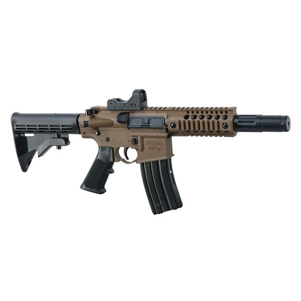 Bushmaster MPW Full/ Semi Auto, CO2 BB Gun W Optic, FDE, New.