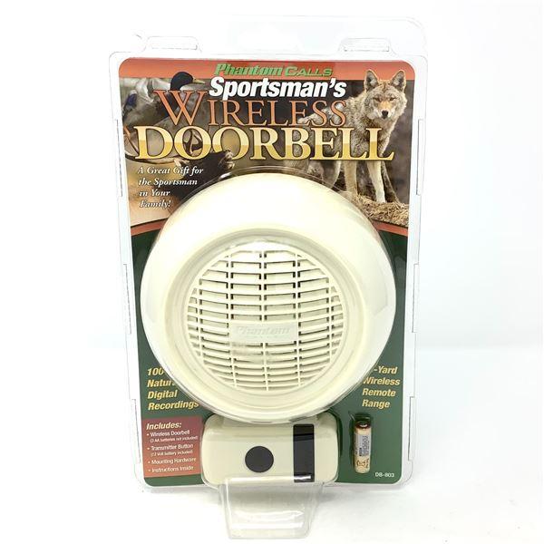 Sportsman's Wireless Doorbell, Off-White, New