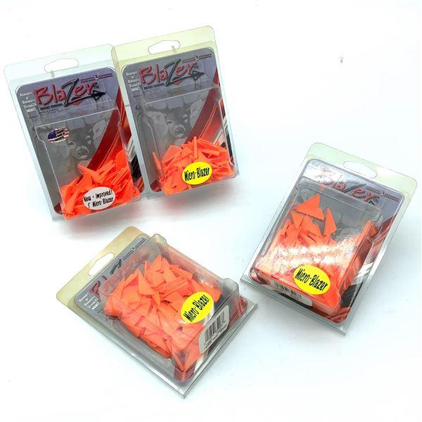 "Bohning Micro Blazer 1"" Vanes, 100 Pk, X 4, Neon Orange New"