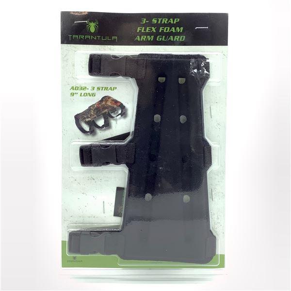 """Tarantula 3 Strap Flex Foam 9"""" Arm Guard, Black New"""
