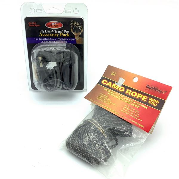 Oxy Elim-A-Scent Pro Pack, 20' Camo Rope With Clip, New