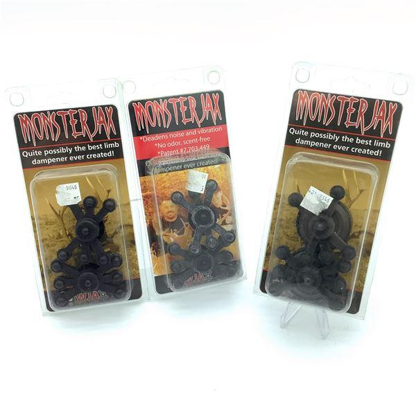 Bowjax Monster Jax Limb Dampener X 3, New