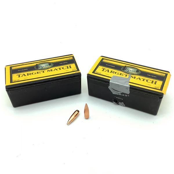 "Speer Target Match 30 Cal .308"" 168 Grain BTHP Projectiles, 200 Ct"