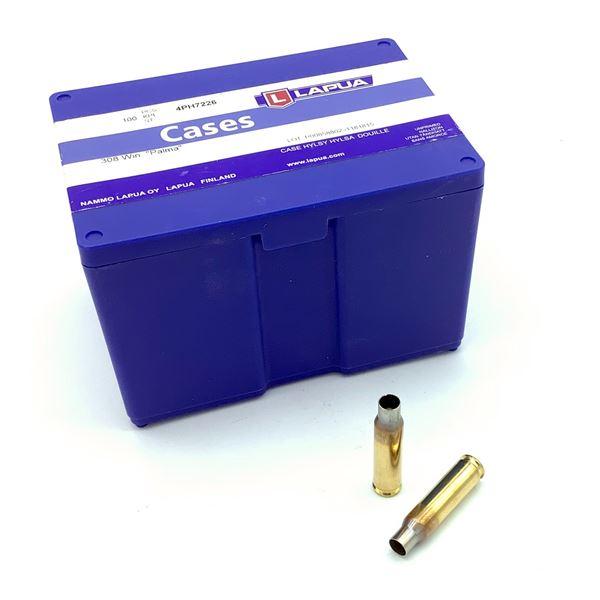 Lapua 308 Win Palma Cases In Shell Holder, 100 Ct