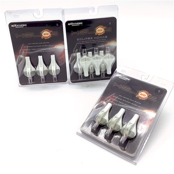 Nockturnal Helios Eclipse Nocks NT259 for S Arrows 6 Pk, Lighted for S Arrows 3 Pk X 2, New