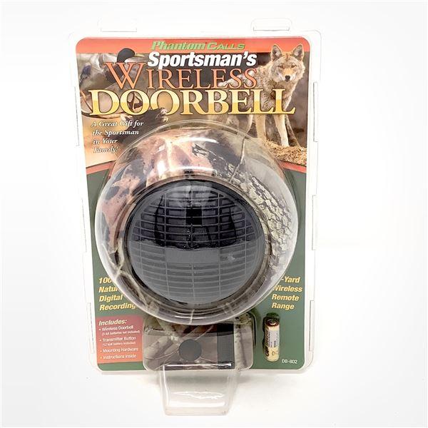 Sportsman's Wireless Doorbell, Camo, New