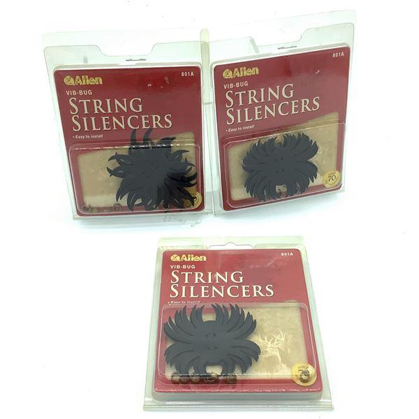 Allen Vib-Bug String Silencers X 3, New