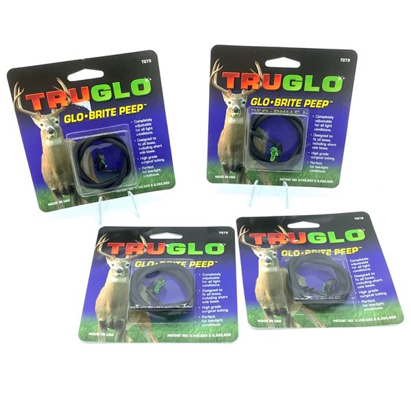 TruGlo Brite Peep Sight for all Bows X 4, New