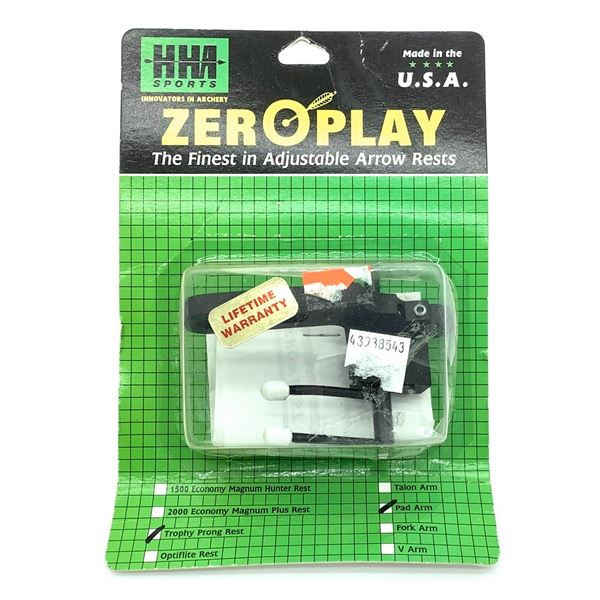HHA Zero Play Trophy Prong Rest Pad Arm, New