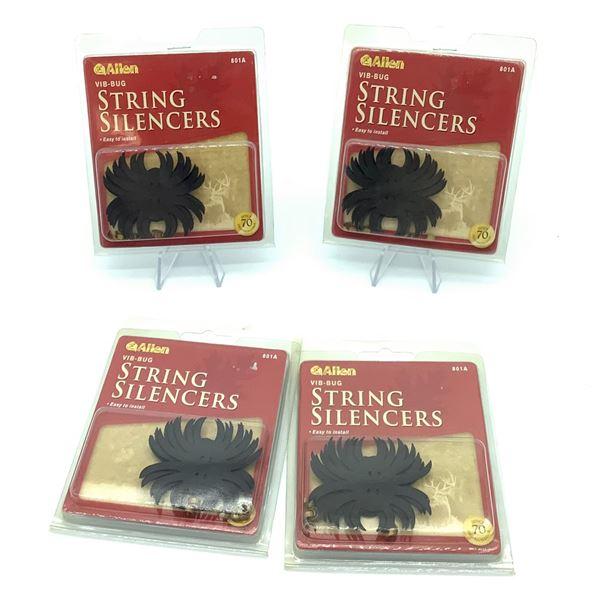 Allen Vib-Bug String Silencers X 4, New