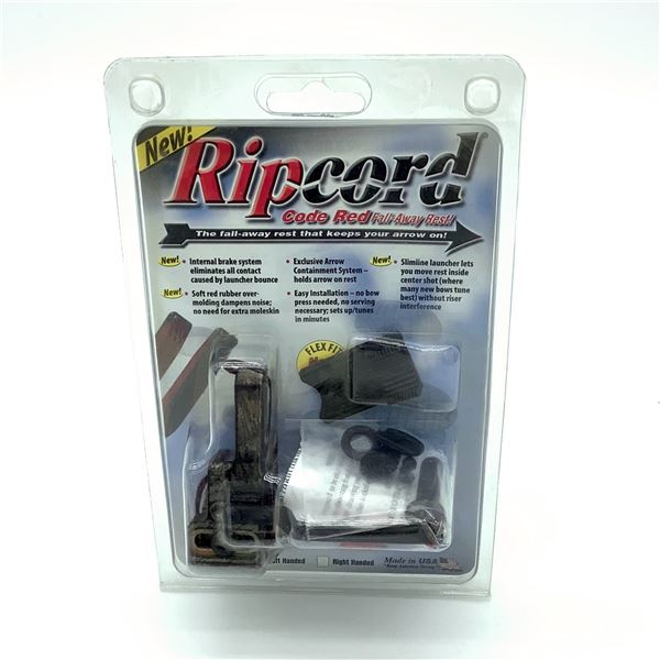 Ripcord Code Red Fall Away Rest, LH, New