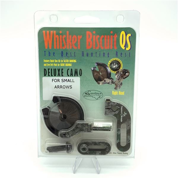 Whisker Biscuit Deluxe for Small Arrows, RH, Camo, New