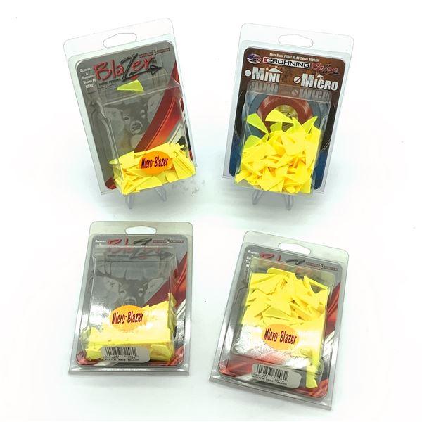 """Bohning Micro Blazer 1"""" Vanes, 100 Pk, Neon Yellow X 4, New"""