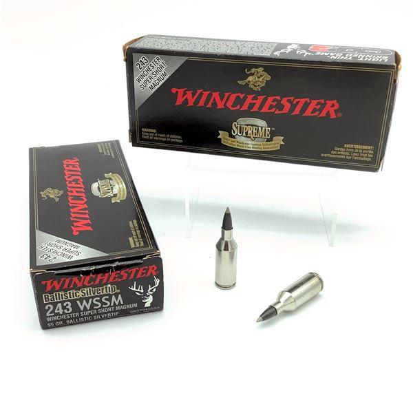 Winchester Ballistic Silvertip 243 WSSM 95 Grain Ammunition, 40 Rounds