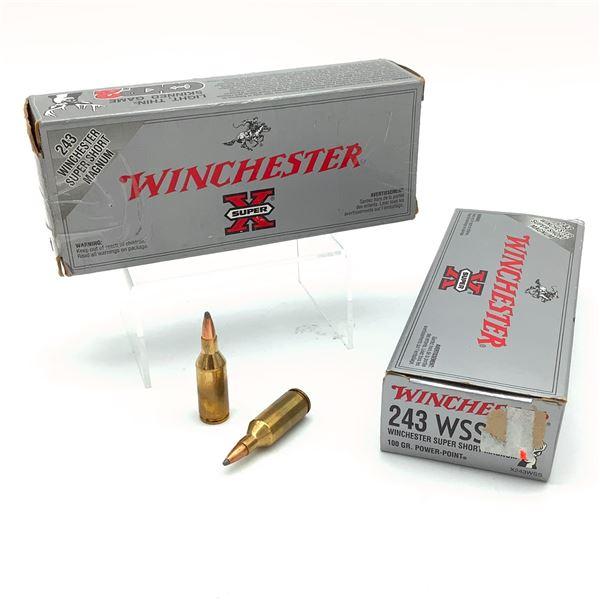 Winchester Super X 243 WSSM 100 Grain Power Point Ammunition, 27 Rounds