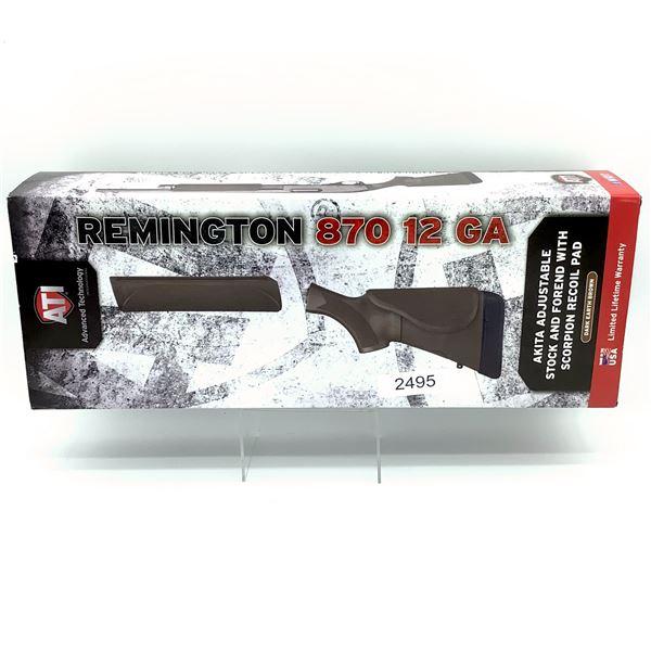 ATI Remington 870 12 Ga 4-Position Adjustable Akita Stock and Forend, Dark Earth