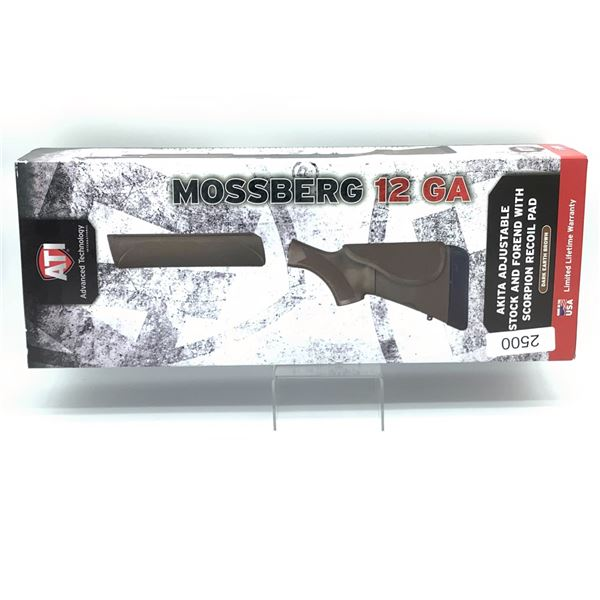 ATI Mossberg 500/535 12 Ga Akita Adjustable Stock and Forend, Dark Earth