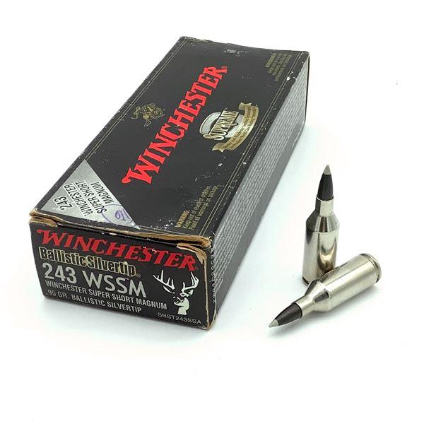 Winchester Ballistic Silvertip 243 WSSM 95 Grain Ammunition, 16 Rounds