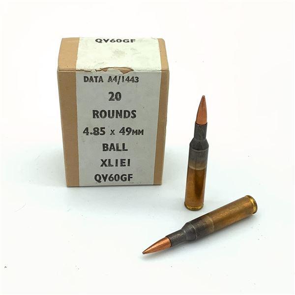 4.85 X 49mm Ball Ammunition, 17 Rounds