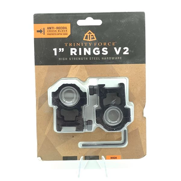 """Trinity Force V2 1"""" High Rings, New"""