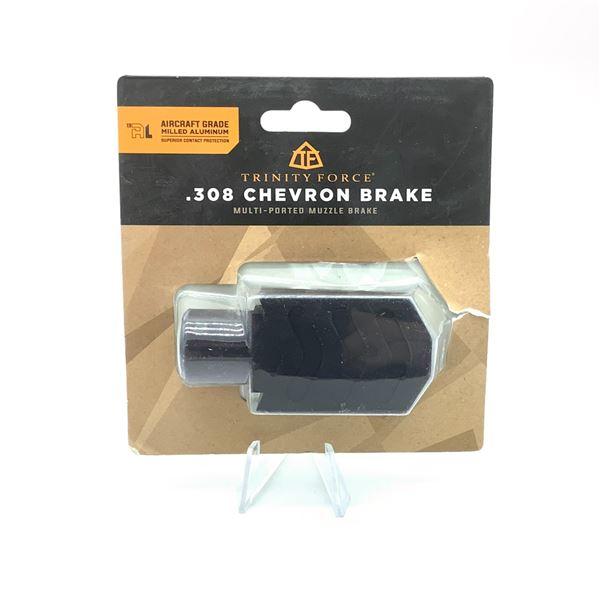 Trinity Force .308 Chevron Brake, Multi Ported Muzzle Brake, New