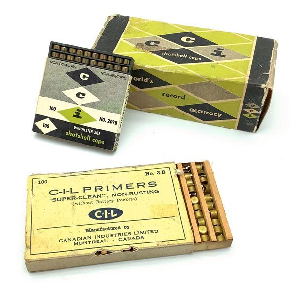 CIL 3-B SuperClean Shotgun Primers, 90 Pc and Winchester Shotshell Caps 900 Pc 209 B