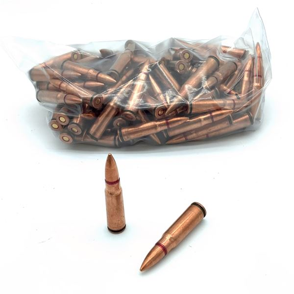 Loose Surplus 7.62 X 39 FMJ Ammunition, 114 Rounds