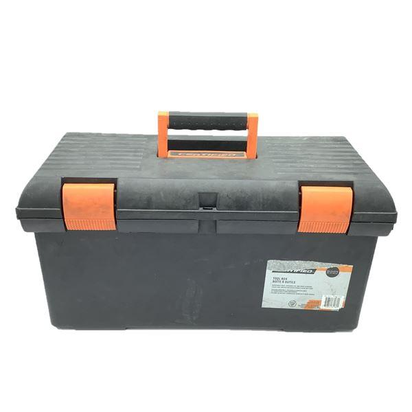 "Certified Tool Box With 1 Tray, 23"" X 11"" X 11 5/8"" Black/Orange"