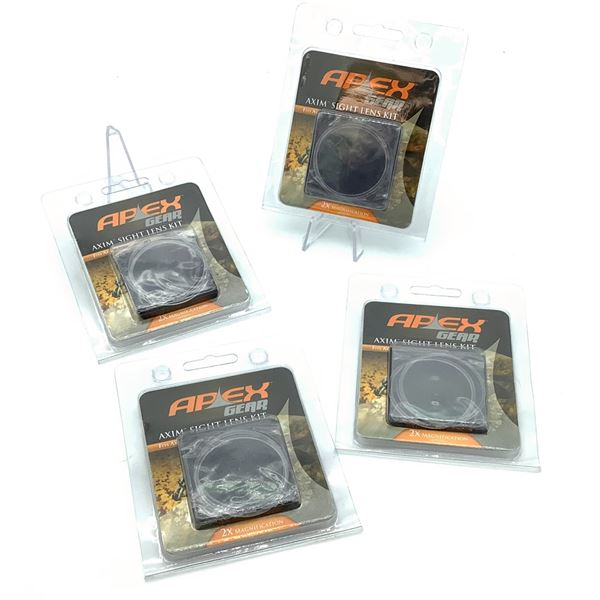 Apex Gear Axim Sight Lens Kit, 2X Magnification X 4, New