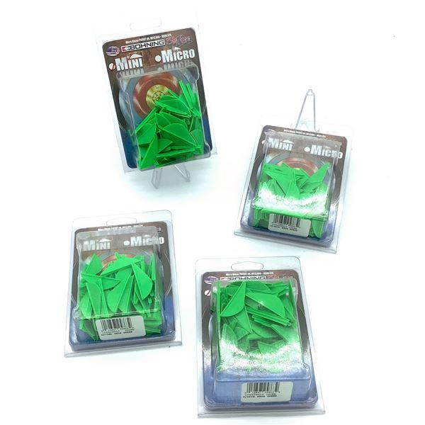 Bohning Mini Blazer Vanes 100 Pk X 4, Neon Green, New