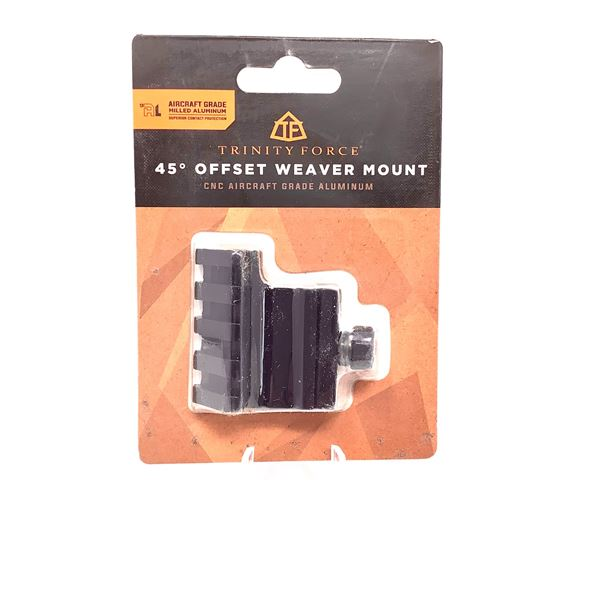 Trinity Force 45° Offset Weaver Mount, New
