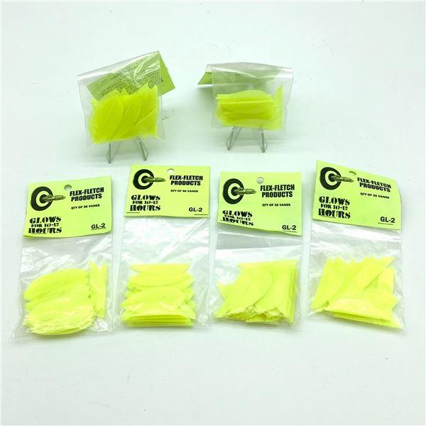FlexFletch Products Vanes GL-2 36 Pk X 6 Neon Yellow, New