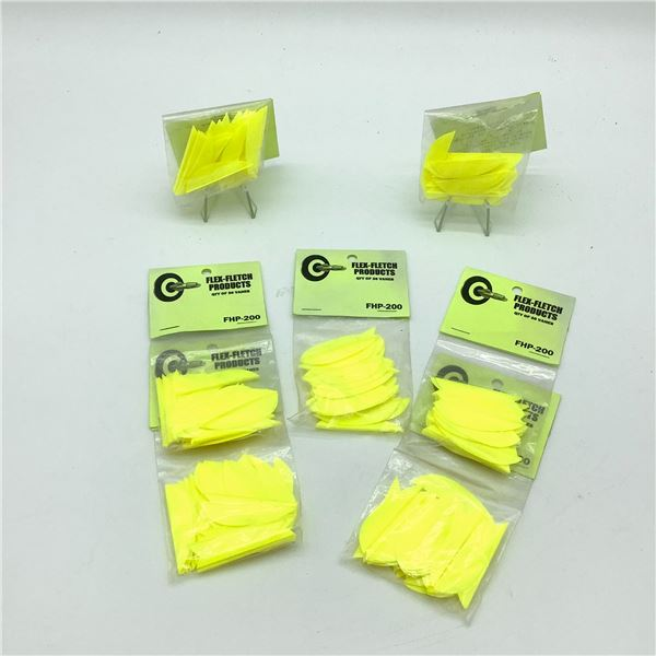 FlexFletch Products FHP-200 Vanes, 36 Pk X 7, Neon Yellow, New