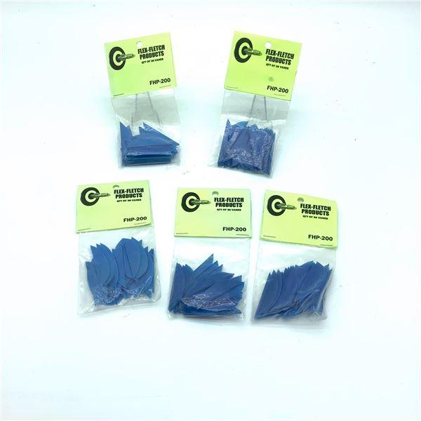 FlexFletch Products FHP-200 Vanes, 36 Pk X 5, Blue, New