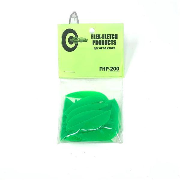 FlexFletch Products FHP-200 Vanes, 36 Pk, Green, New