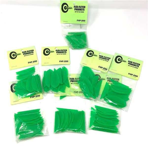 FlexFletch Products FHP-200 Vanes, 36 Pk X 8, Green, New