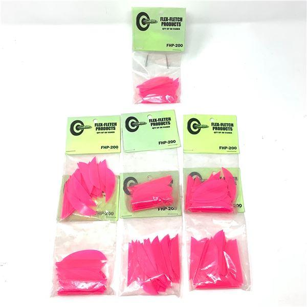 FlexFletch Products FHP-200 Vanes, 36 Pk X 7, Pink, New