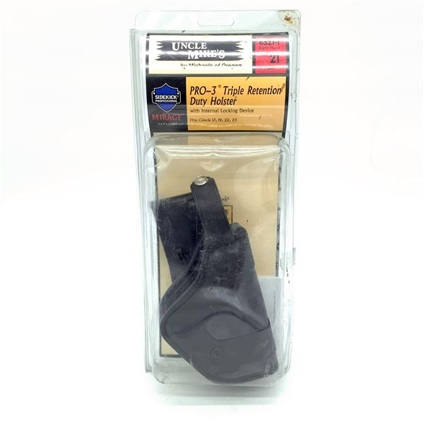 Uncle Mike's Pro-3 Triple Retention Duty Holster fits Glock, New