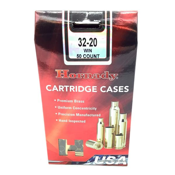 Hornady 32-20 Win Cartridge Cases - 50 Count, New