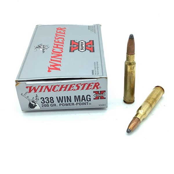 Winchester 338 Win Mag Ammunition - 20 Rnds