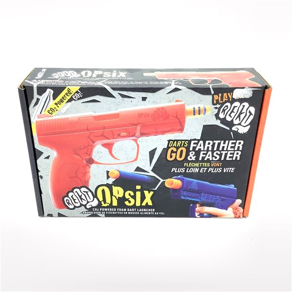 Rekt OPSix CO2 Powered Foam Dart Launcher in Red, New