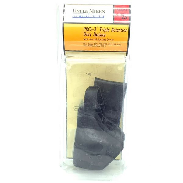 Uncle Mike's Pro-3 Triple Retention Duty Holster fits Ruger, New