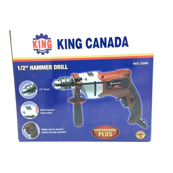"King Canada 1/2"" Hammer Drill, New"