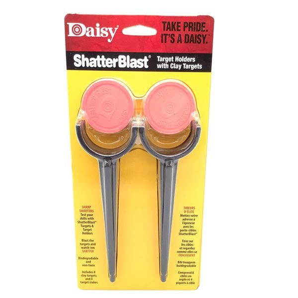 Daisy Shatterblast Target Holders with Clay Targets, New